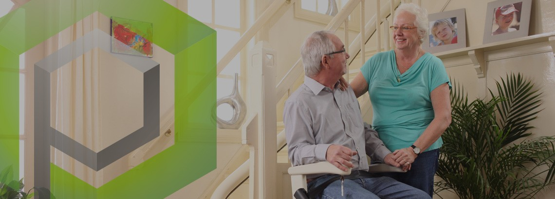 stairlifts in derbyshire big image of elderly couple